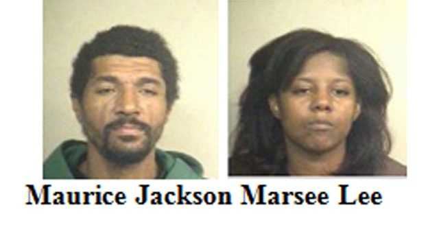 Maurice Jackson and Marsee Lee were arrested Thursday, police said. Jackson is charged with possession of paraphernalia. Lee is charged with possession of cocaine within 1,500 feet of a church, police said.