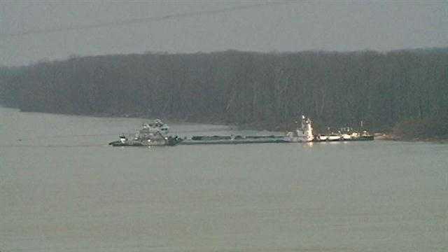 damaged barge