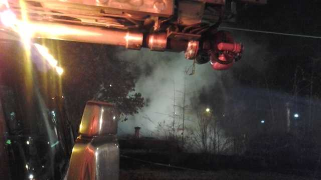 Firefighters battled a house fire on Saturday.