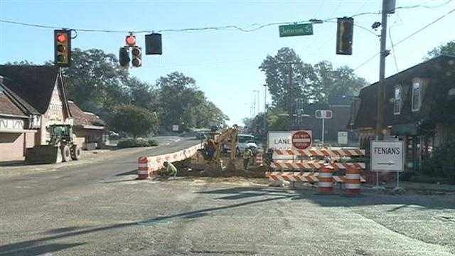 Road crews shut down the intersecton of Fortification and Jefferson streets for about a month.