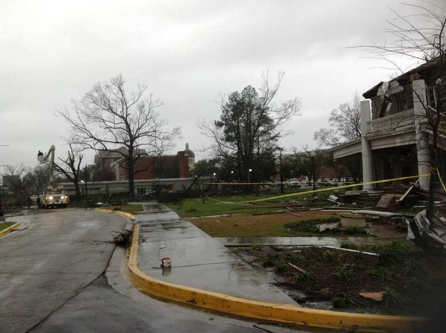 Gov. Phil Bryant posted this photo to Facebook, looking toward Ogletree Alumni House.