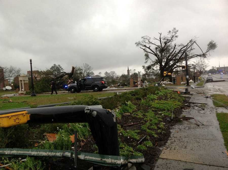 The view from Hardy Street in Hattiesburg.