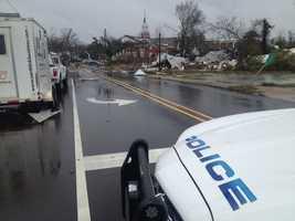 Damage in Hattiesburg.