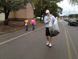 A group of students have organized a cleanup effort on the University of Southern Mississippi campus.