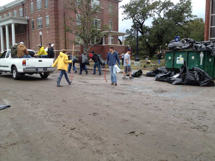The USM campus reopened Wednesday, but classes aren't expected to resume until Thursday.
