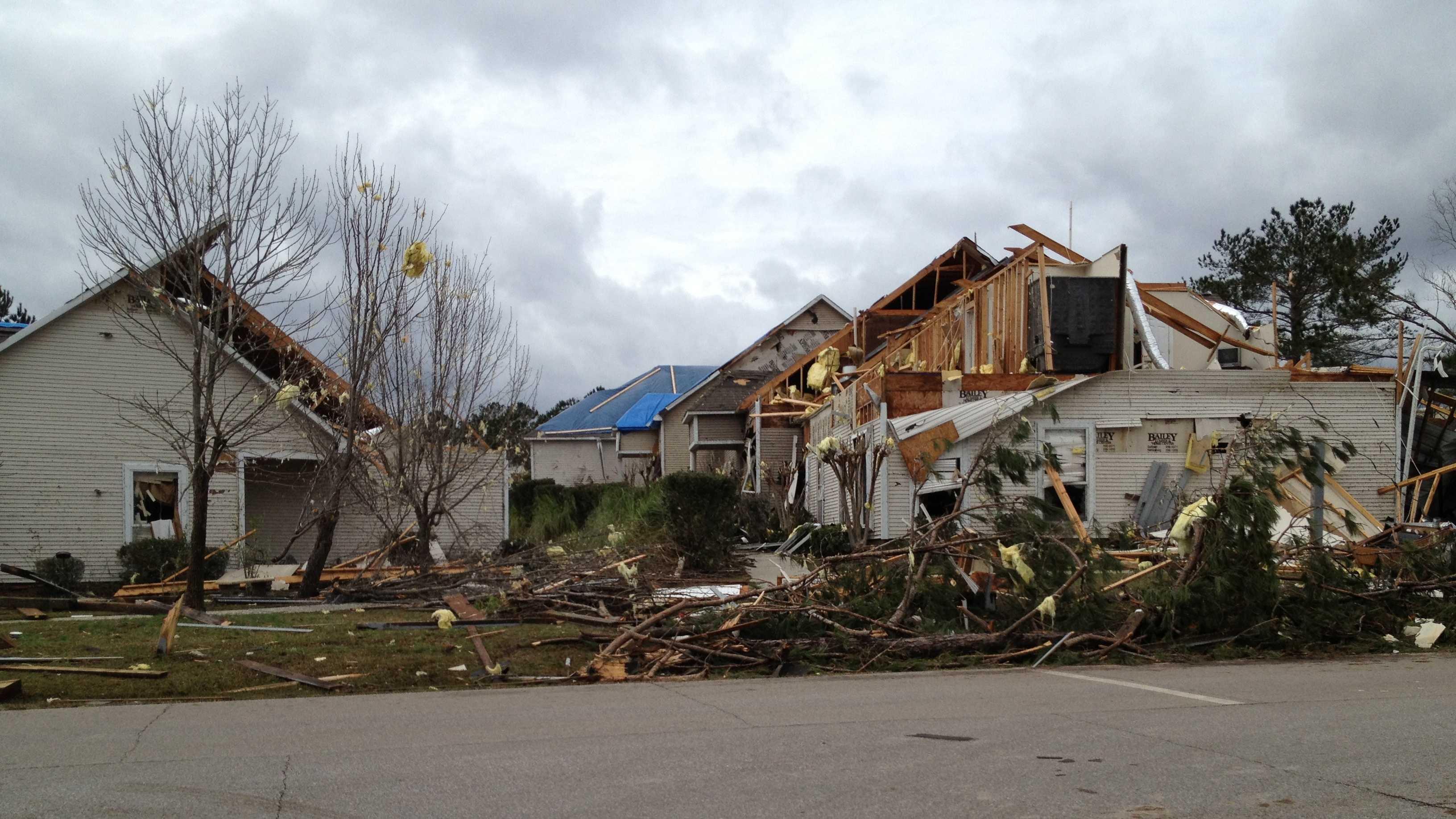 The Lakeshore subdivision in Lamar County saw major tornado damage.