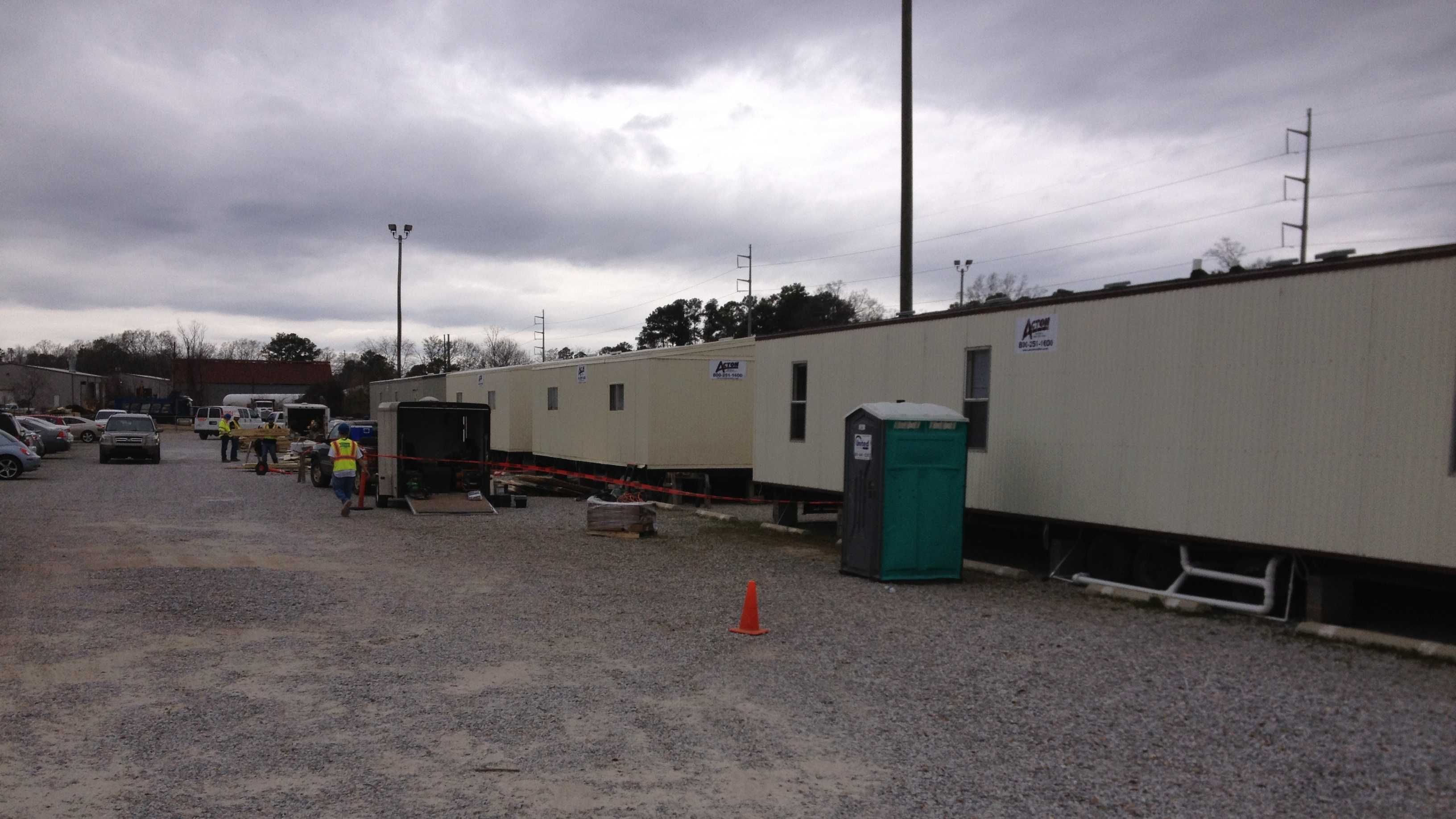 Mobile classrooms are going up at USM.