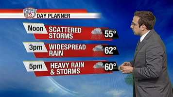 Live Storm Shield Meteorologist Ethan Huston says we should be prepared for widespread rainfall, which will be heavy at times.