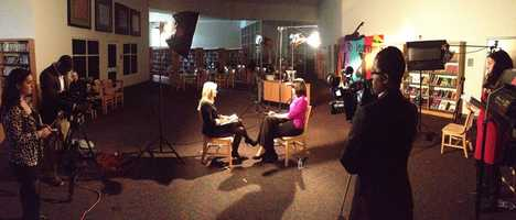 First lady Michelle Obama in a one-one-one exclusive interview with 16 WAPT's Megan West..