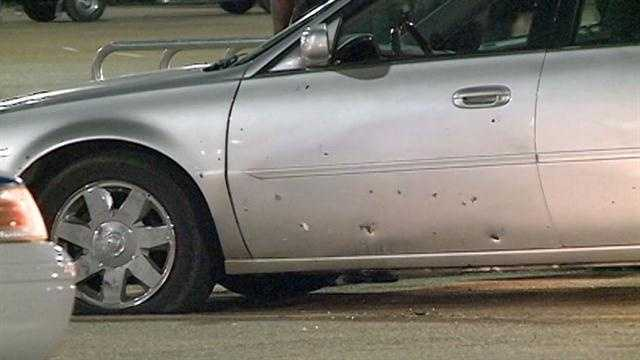 Jackson police said a man was shot three times then drove himself to a local Wal-Mart.