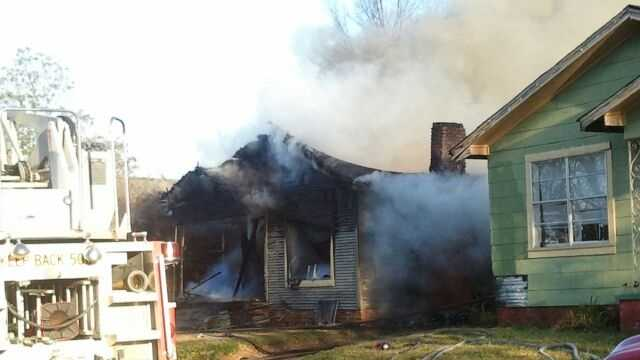 The fire was confined to the one house in the 1000 block of Pascagoula Street.