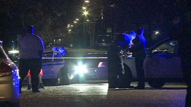 Police say a 31-year-old man inside the house was shot several times and killed.