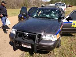 MHP says 54 state police cars were totaled because of hail damage.