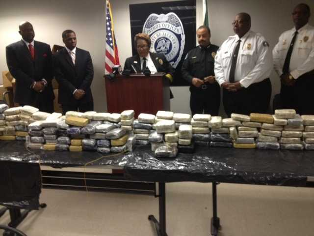 The total weight of the marijuana was 256 pounds, with an estimated street value of $315,000, police said.