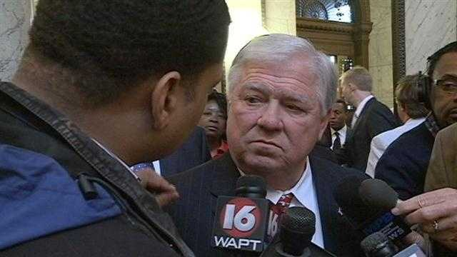 Former Gov. Haley Barbour speaks to 16 WAPT's Andrew Kinsey.