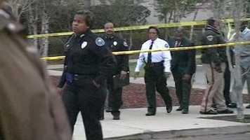 Chief Rebecca Coleman walks from the scene.