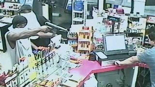 Clerk shot surveillance
