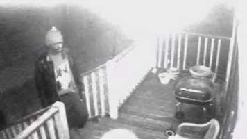 The images were captured by cameras posted outside and inside the house, police said.