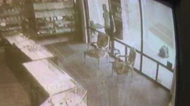 Jackson police are looking for the man they say broke into Morri Luggage on Old Square Road and held the cashier at gunpoint.