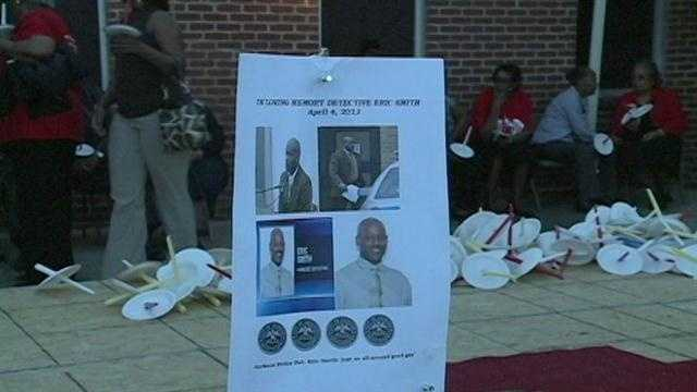 Friends and family gathered Sunday at New Ebenezer Baptist Church to remember Smith.