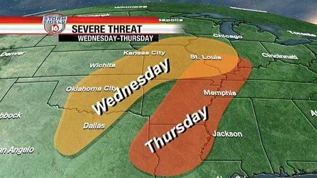 severe wx threat weds thurs