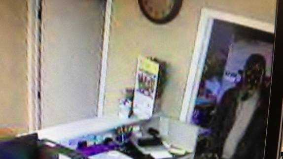 Bank robbery surveillance photo