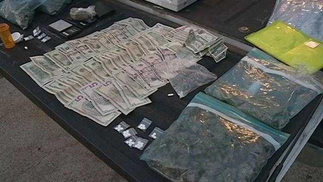 drugs, cash