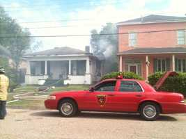 Smoke was seen coming from the home in the 1300 block of Jackson Street.