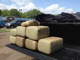 The HCSO, along with the help of the Pearl Police Department, confiscated 166 pounds of marijuana valued at $2,000 per pound.