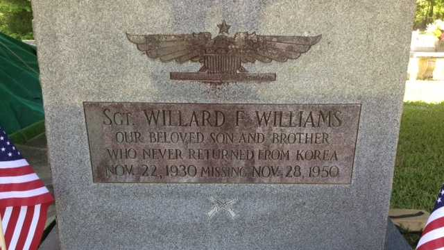 Willard Williams' grave