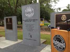 A ceremony was held earlier this month in Pearl to dedicate a memorial for those those killed in the line of duty, including Walter, who died in a shootout last year.