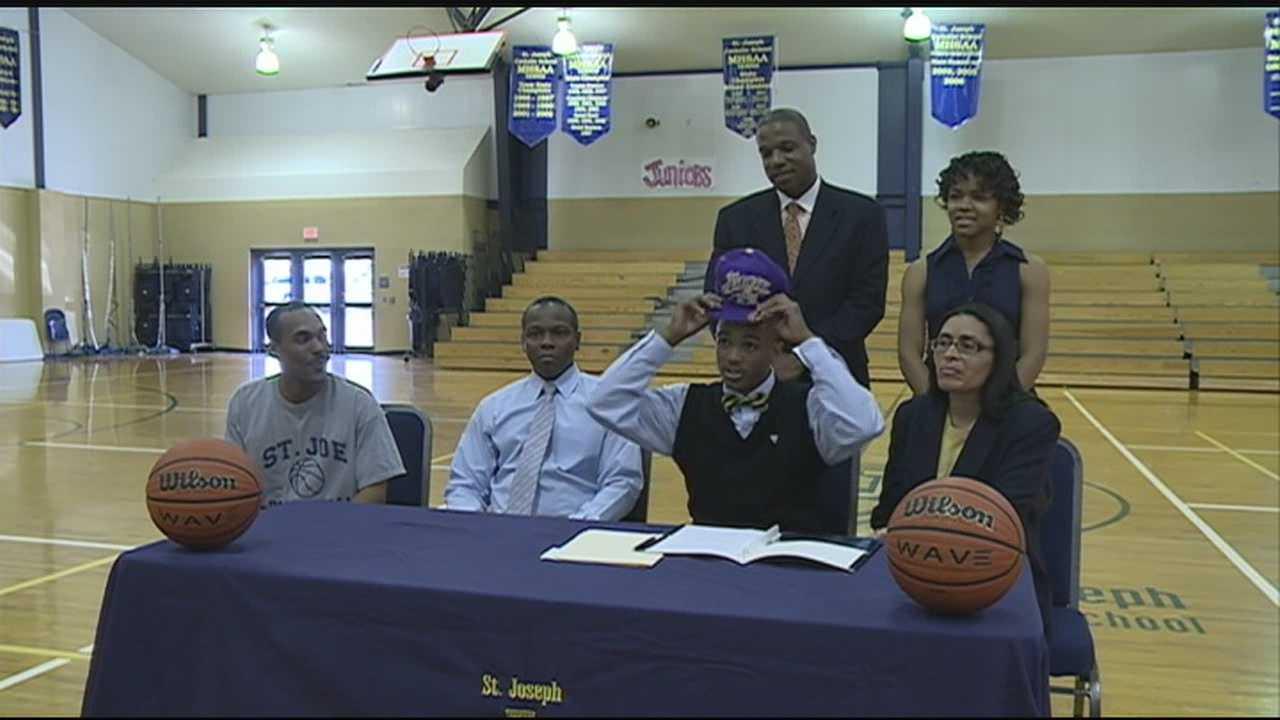Madison St. Joseph senior guard Denarius Odell signed Alcorn State University on Thursday afternoon.