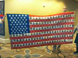 A flag was donated to the Law Enforcement Museum in Washington, D.C., that features all the officers who died in 2012, including Pearl Police Detective Mike Walter.