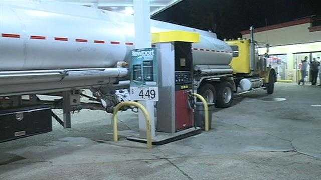 Emergency responders had to clean a gas tanker spill overnight on North State Street.