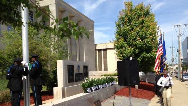 The Jackson Police Department held a ceremony Wednesday to honor officers killed in the line of duty.
