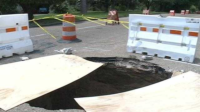 Old Canton Road sinkhole