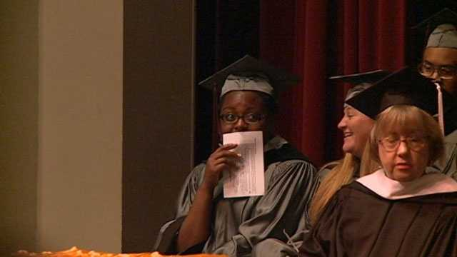 Hinds Community College student Kendra Noelle Conley got a special surprise Friday during her graduation ceremony.