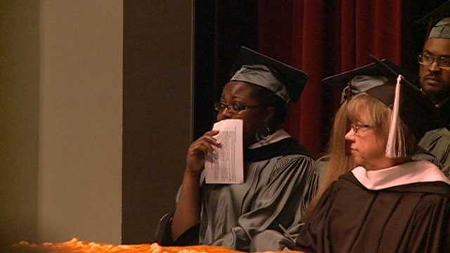 Her first surprise was a video of her father, Maj. Houghton Conley, congratulating her on her graduation.