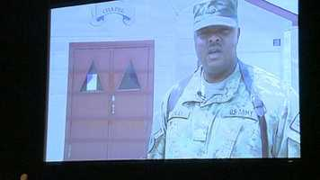 The video was shot in Afghanistan, where Conley had been serving. he said he shot it because he wasn't sure he would make it to his daughter's commencement.
