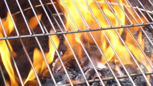 Grilling grill flames charcoal