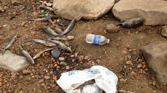 The trash is piling up on one area of the reservoir, and one group that keeps the area clean says they're tired of picking it up.