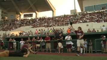A celebration was held Thursday night in Starkville for the Mississippi State baseball team that took second place in the College World Series.