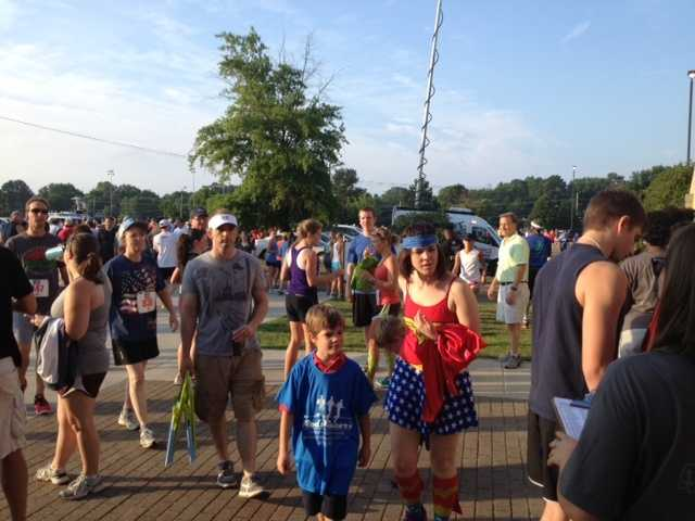 More than 1,400 people registered for the race, organizers said.