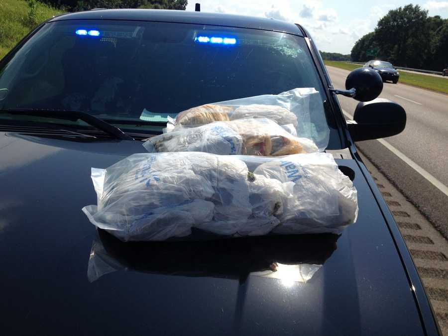 Between 8-10 lbs. of marijuana with an estimated street value between $10,000 and $12,000 was seized, Hinds County Sheriff's Department officials say.