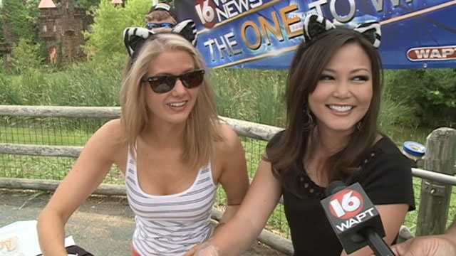 Megan and Keegan, who donned zebra ears, renamed their flavor, Zebra Crunch.