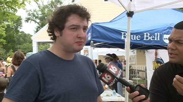 "Ben Wilson called 16 WAPT's ice cream flavor, ""Zebralicious."""