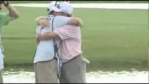 Woody Austin wins the 2013 Sanderson Farms Championship.
