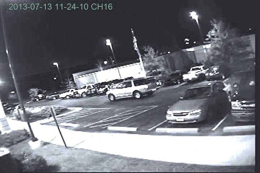 Police believe a Ford Expedition that is light in color with a sunroof was used in the robbery.