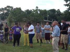 JPS Superintendent Dr. Cedrick Gray spoke at the vigil.