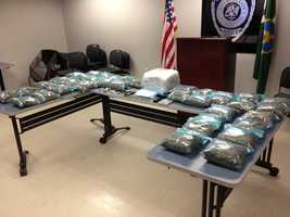 Jackson police respond to a deceased subject call and find two boxes filled with marijuana.